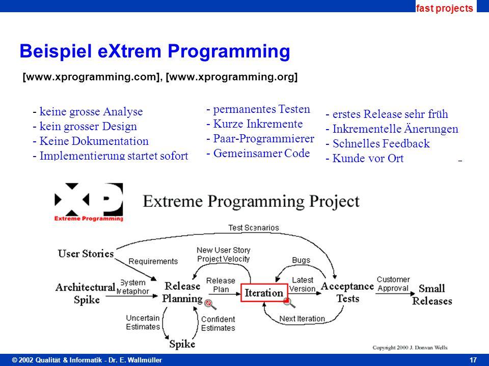 Beispiel eXtrem Programming [www. xprogramming. com], [www